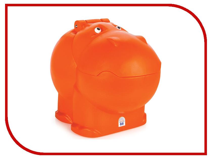 Корзина для игрушек Pilsan Контейнер для игрушек Бегемот Orange контейнер для игрушек большой