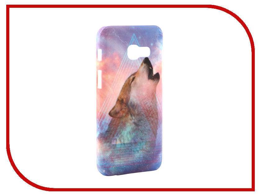 Аксессуар Чехол Samsung Galaxy A3 2017 A320 With Love. Moscow Wolf 6977 чехлы для телефонов with love moscow силиконовый дизайнерский чехол для meizu m3s перья