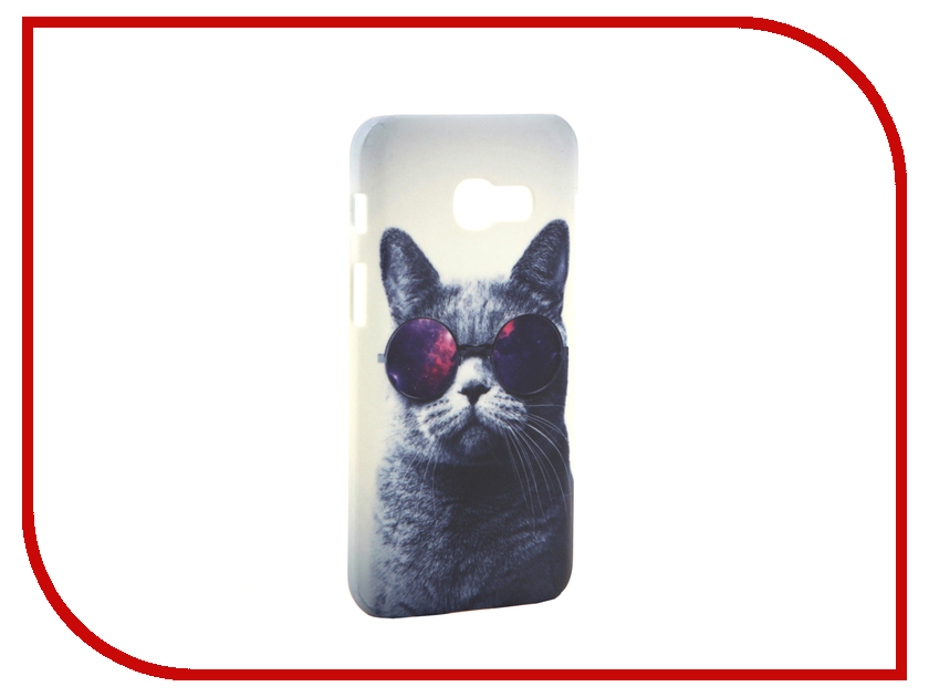 Аксессуар Чехол Samsung Galaxy A3 2017 A320 With Love. Moscow Cat with Glasses 6988 аксессуар чехол with love moscow samsung galaxy j5 2017 кожаный black 10206