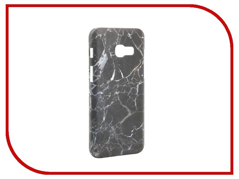 Аксессуар Чехол Samsung Galaxy A3 2017 A320 With Love. Moscow Black Marble 7015 аксессуар защитное стекло samsung galaxy a3 2017 solomon full cover black