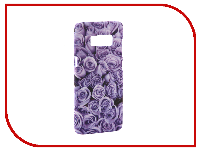 Аксессуар Чехол Samsung Galaxy S8 With Love. Moscow Purple Flowers 7022 аксессуар