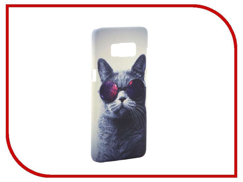 Аксессуар Чехол Samsung Galaxy S8 With Love. Moscow Cat with Glasses 7044 аксессуар чехол samsung galaxy s8 with love moscow starlight night 7037