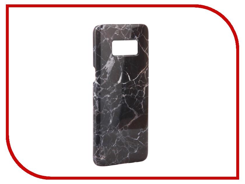 Аксессуар Чехол Samsung Galaxy S8 With Love. Moscow Black Marble 7071 чехлы для телефонов with love moscow силиконовый дизайнерский чехол для meizu m3s перья