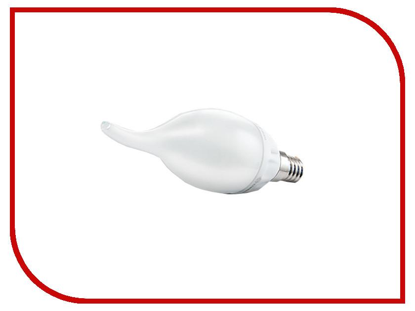 Лампочка ECOWATT Свеча на ветру BXS35 E14 4.7W 230V 2700K Warm White лампочка ecowatt груша нитевидная a60 e27 fl 8w 230v 2700k warm white