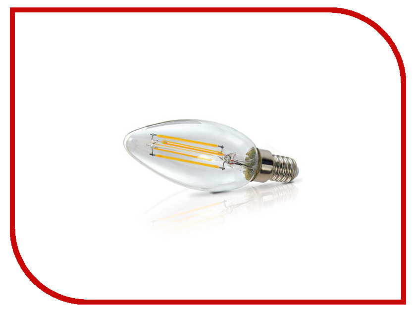 Лампочка ECOWATT Свеча нитевидная B35 E14 FL 4W 2700K Warm White лампочка ecowatt шарик p45 e14 5 3w 230v 2700k warm white
