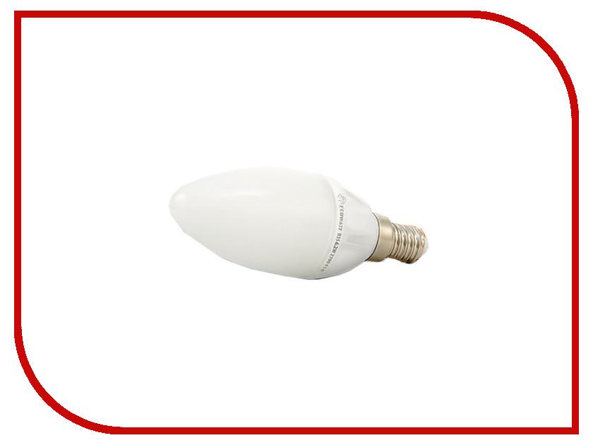 Лампочка ECOWATT Свеча B35 E14 230V аналог 60W 2700K Warm White лампочка ecowatt шарик p45 e14 5 3w 230v 2700k warm white