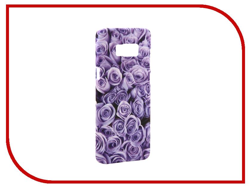 Аксессуар Чехол Samsung Galaxy S8 Plus With Love. Moscow Purple flowers 7078 чехлы для телефонов with love moscow силиконовый дизайнерский чехол для meizu m3s перья