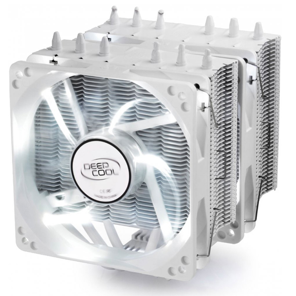Кулер DeepCool Neptwin White (Intel LGA2011-V3/2011/1366/1156/55/51/50/775/AMD FM2+/FM2/FM1/AM3+/AM3/AM2+/AM2)