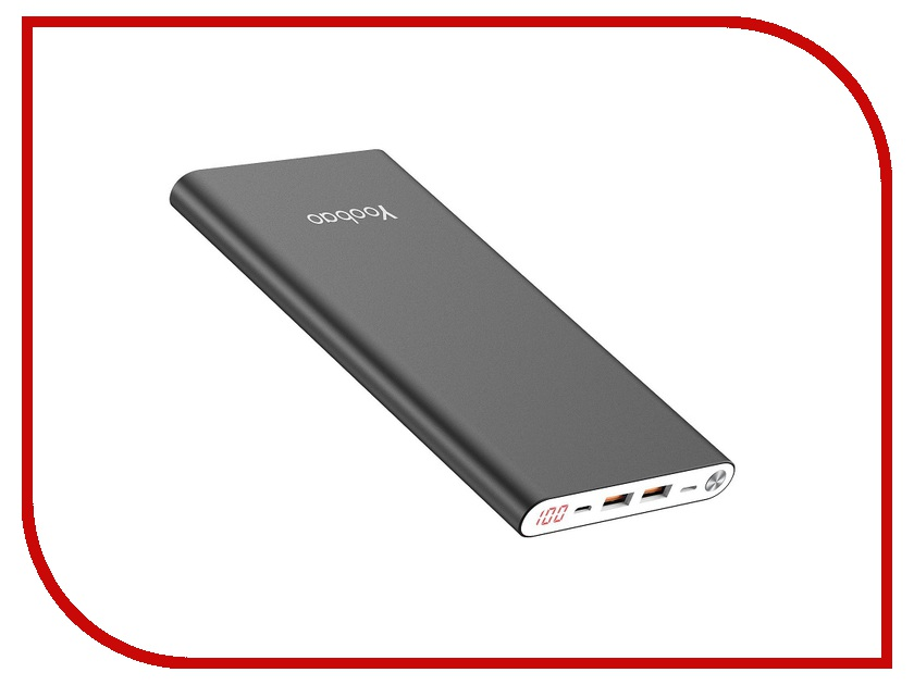 Аккумулятор Yoobao Power Bank A2 Slim 20000mAh Grey аккумулятор yoobao power bank yb 655 11000mah white
