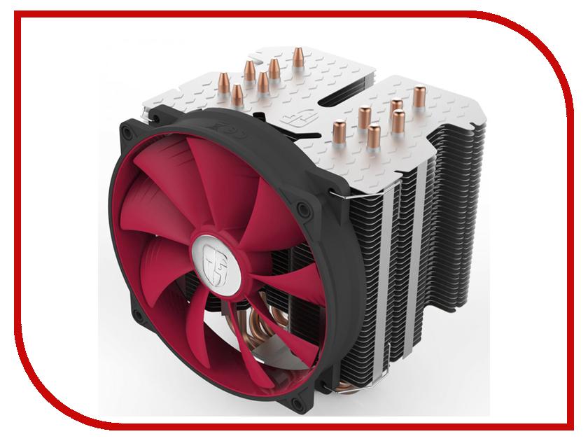 Кулер DeepCool RedHat (Soc-AMD/1150/1155/1156/2011) вентилятор glacialtech icehut 1150 silent soc 1150 1155 1156 3pin 20db al 82w 390g клипсы oem