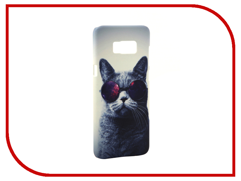 Аксессуар Чехол Samsung Galaxy S8 Plus With Love. Moscow Cat with Glasses 7100 аксессуар чехол with love moscow samsung galaxy s8 plus кожаный black 1616