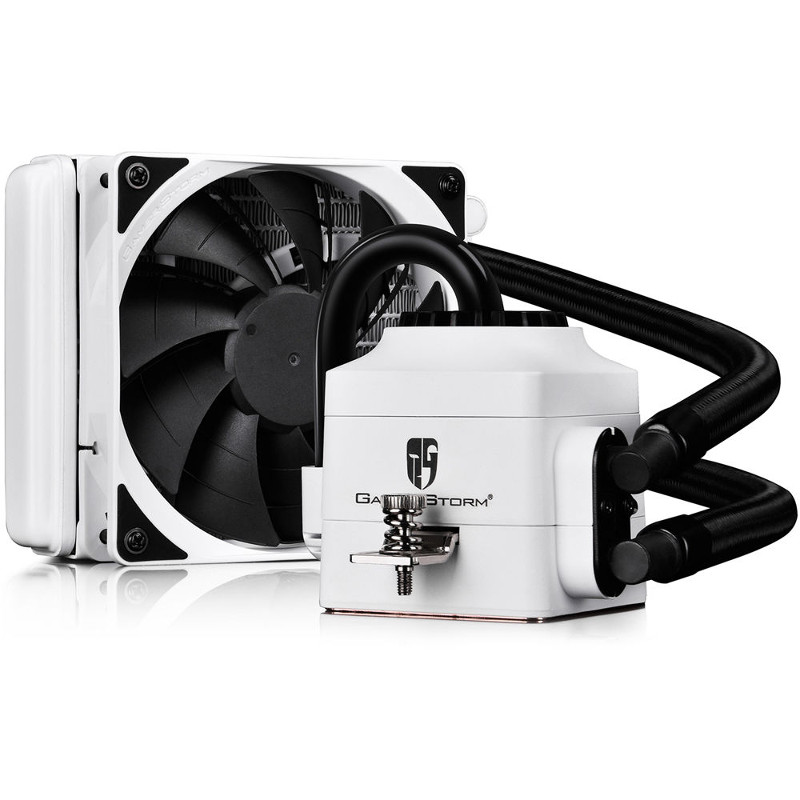 Водяное охлаждение DeepCool Captain 120 EX White (Intel LGA2011-V3/2011/1366/1156/55/51/50/775/AMD FM2+/FM2/FM1/AM3+/AM3/AM2+/AM2)