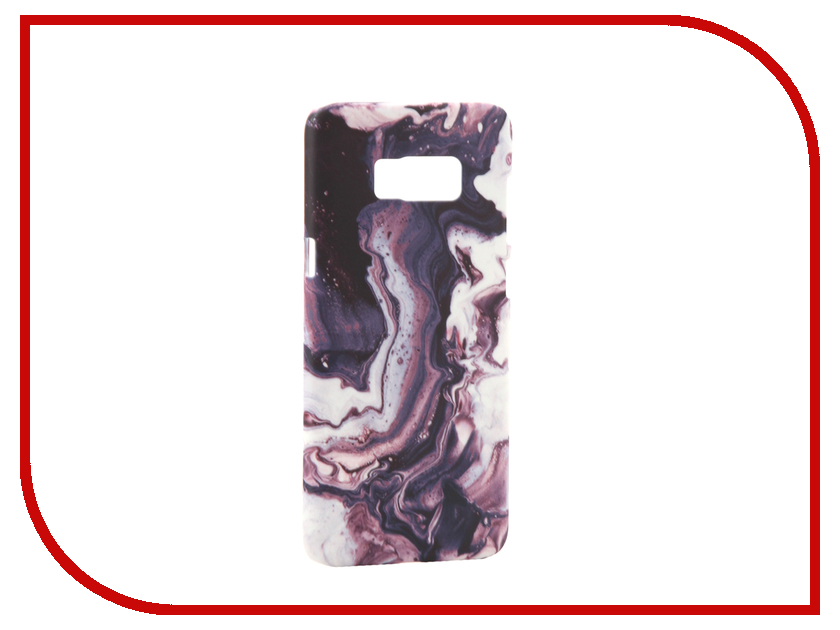 Аксессуар Чехол Samsung Galaxy S8 Plus With Love. Moscow Violet Marble 7123 аксессуар чехол with love moscow samsung galaxy s8 plus кожаный black 1616