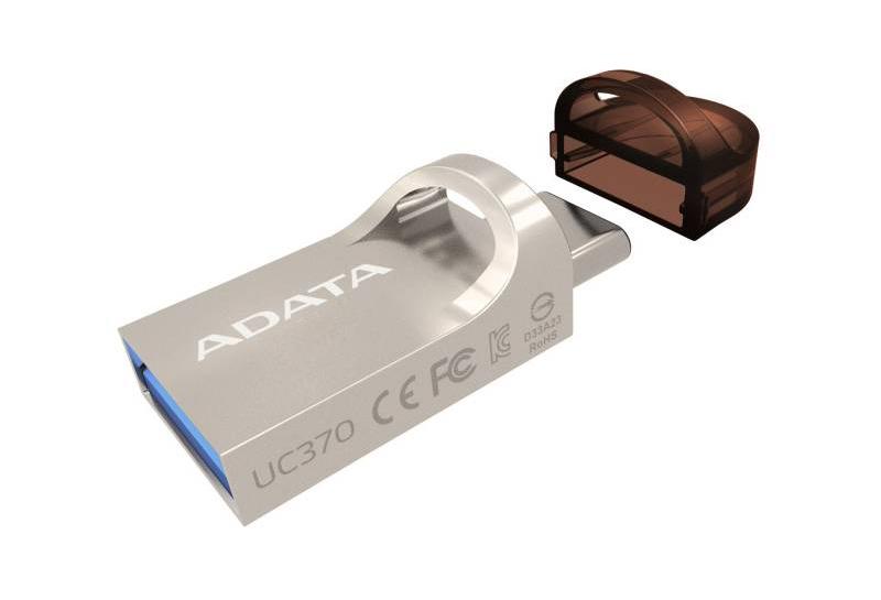 USB Flash Drive 16Gb - A-Data DashDrive UC370 OTG USB 3.1/Type-C Gold AUC370-16G-RGD цена