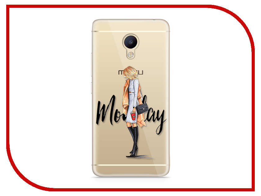 Аксессуар Чехол Meizu M5 Note With Love. Moscow Silicone Monday 6745 чехлы для телефонов with love moscow силиконовый дизайнерский чехол для meizu m5 note цветок 2