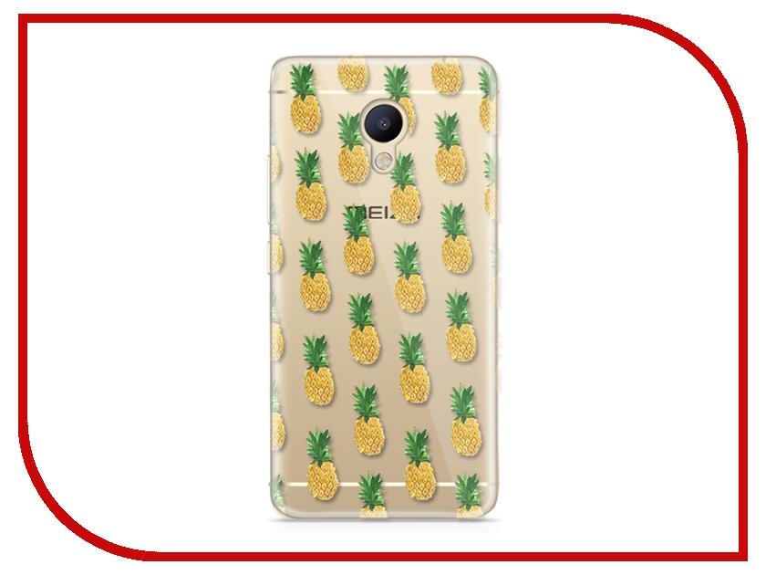 Аксессуар Чехол Meizu M5 Note With Love. Moscow Silicone Pineapples 6752 чехлы для телефонов with love moscow силиконовый дизайнерский чехол для meizu m3s перья