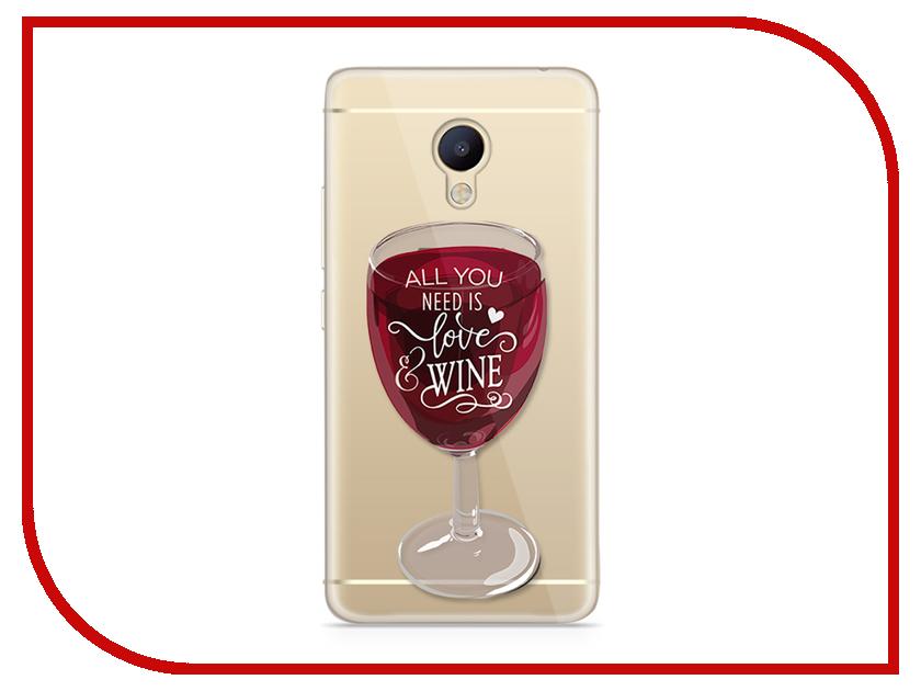 Аксессуар Чехол Meizu M5 Note With Love. Moscow Silicone Wineglass 6756 чехлы для телефонов with love moscow силиконовый дизайнерский чехол для meizu m3s перья