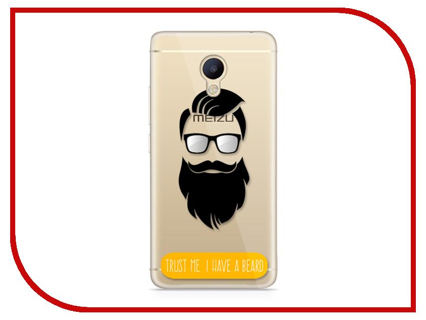 Аксессуар Чехол Meizu M5 Note With Love. Moscow Silicone Beard 6757 чехлы для телефонов with love moscow силиконовый дизайнерский чехол для meizu m3s перья