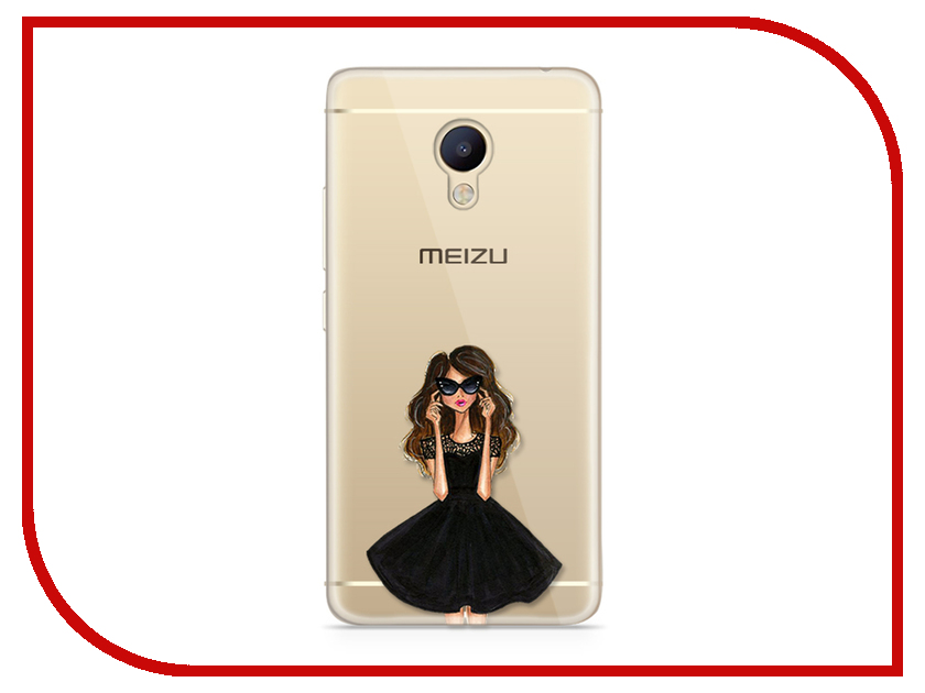Аксессуар Чехол для Meizu M5 Note With Love. Moscow Silicone Girl in a Dress 6761 платья для девочки summer gtyle baby girl версия для печати flower dot girl dress for wedding girls party dress with bow dress for 4 8 years