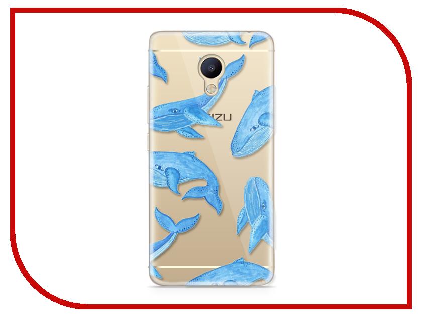 Аксессуар Чехол Meizu M5 Note With Love. Moscow Silicone Whales 6767 чехлы для телефонов with love moscow силиконовый дизайнерский чехол для meizu m5 note цветок 2