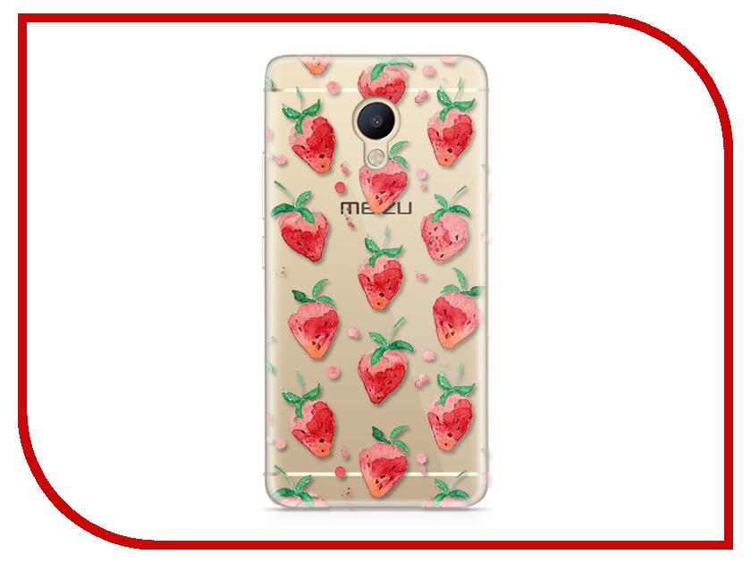 Аксессуар Чехол Meizu M5 Note With Love. Moscow Silicone Strawberry 6768 чехлы для телефонов with love moscow силиконовый дизайнерский чехол для meizu m3s перья