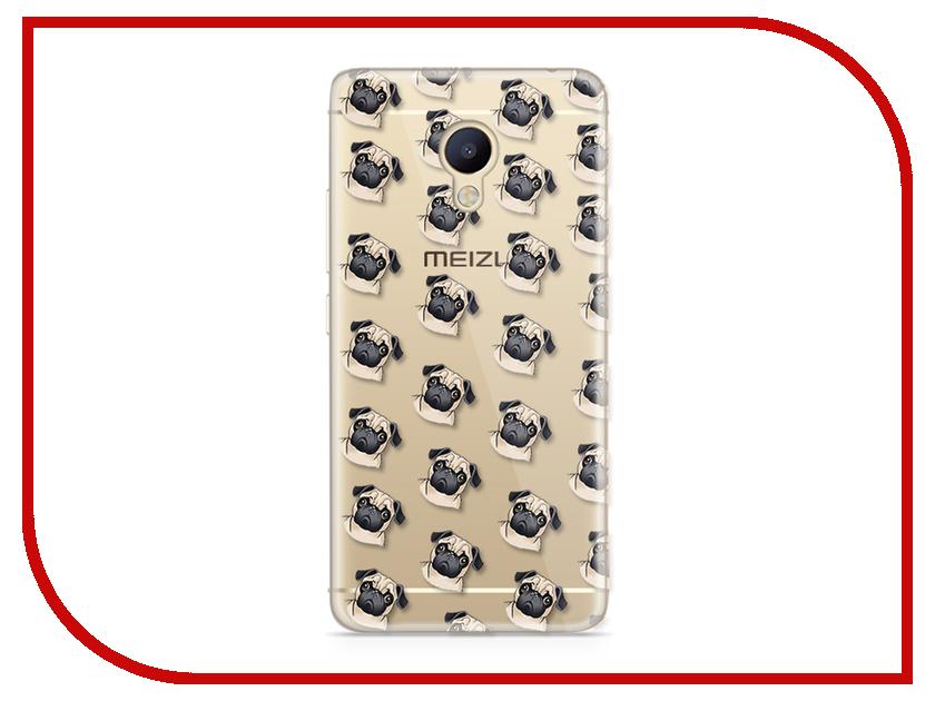 Аксессуар Чехол Meizu M5 Note With Love. Moscow Silicone Pugs 6776 чехлы для телефонов with love moscow силиконовый дизайнерский чехол для meizu m5 note цветок 2
