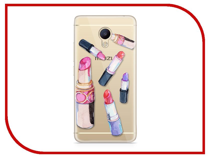 Аксессуар Чехол Meizu M5 Note With Love. Moscow Silicone Lipsticks 6780 чехлы для телефонов with love moscow силиконовый дизайнерский чехол для meizu m5 note цветок 2