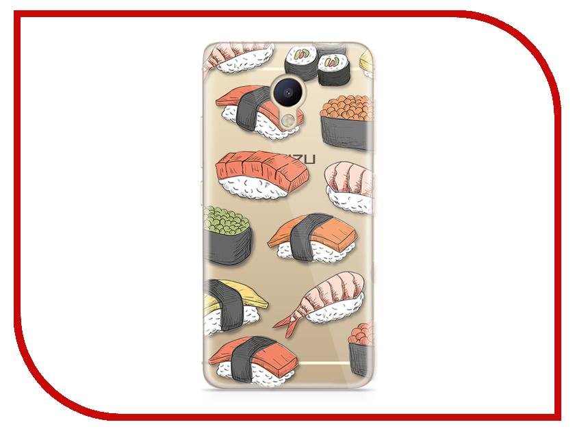 Аксессуар Чехол Meizu M5 Note With Love. Moscow Silicone Sushi 6785 чехлы для телефонов with love moscow силиконовый дизайнерский чехол для meizu m5 note цветок 2