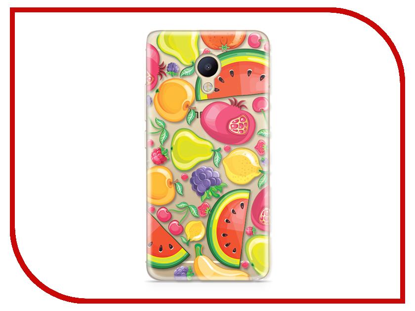 Аксессуар Чехол Meizu M5 Note With Love. Moscow Silicone Fruit 6786 чехлы для телефонов with love moscow силиконовый дизайнерский чехол для meizu m3s перья