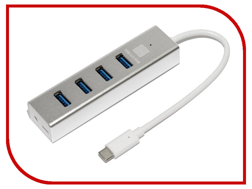 Хаб USB 5bites 4xUSB 3.0 - HB34C-309SL Silver mikado fishunter 2 съедобная резина 11 5 см 347 уп 3 шт