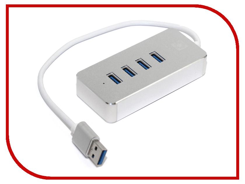 Хаб USB 5bites 4xUSB 3.0 - HB34-308SL Silver цена и фото