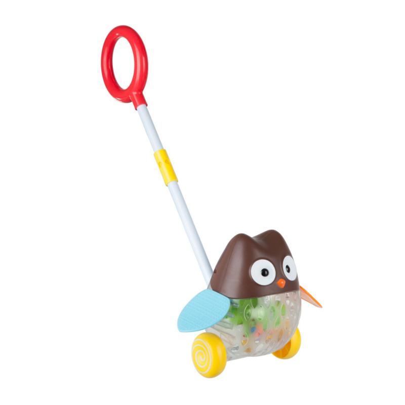 Каталка Bondibon Сова ВВ2381 каталки bondibon игрушка деревянная каталка с ручкой пингвин bondibon