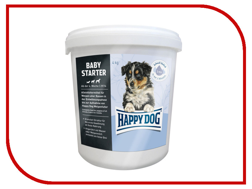 Корм Happy Dog Baby Starter Первый прикорм - 4kg 03505 для щенков