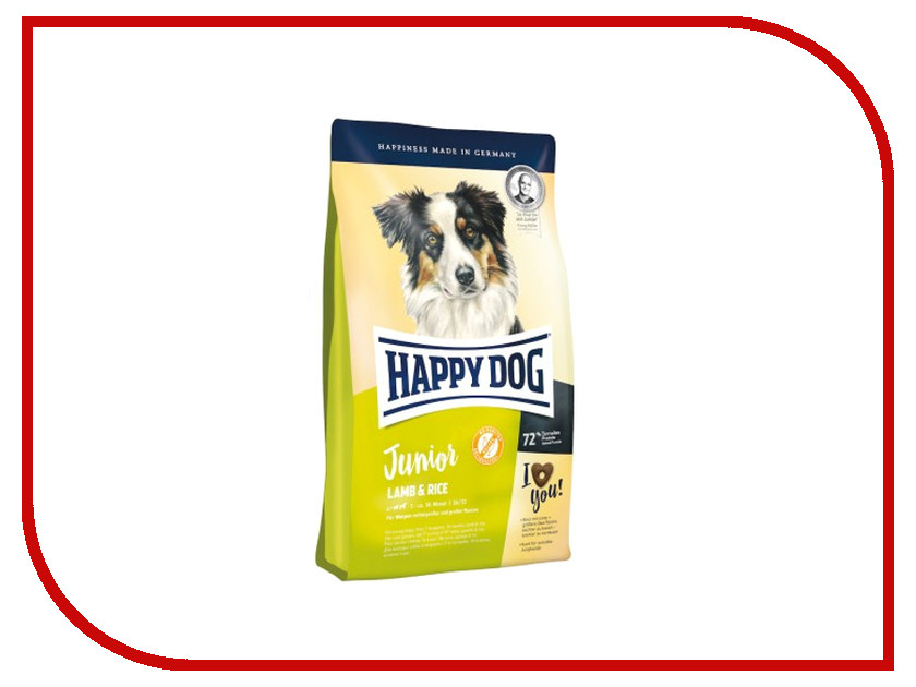 Корм Happy Dog Junior Ягненок/Рис - 1kg 60410 для щенков корм happy dog vet diet struvit курица ягненок морепродукты 12 5kg для собак