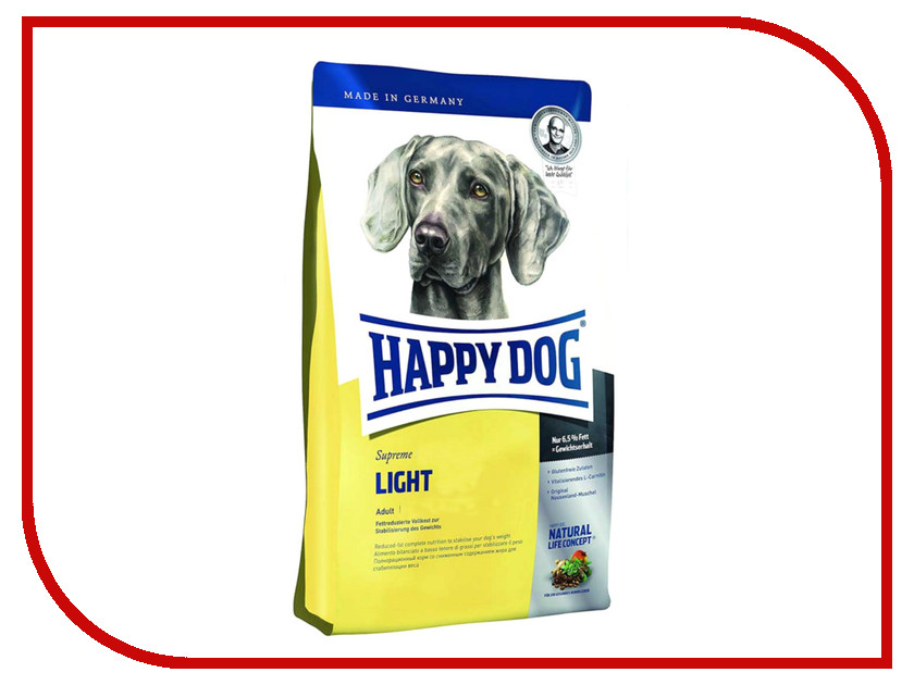 Корм Happy Dog Fit Well Light Adult Weight Control - 4kg 60086 для собак совок садовый truper широкий 54 см