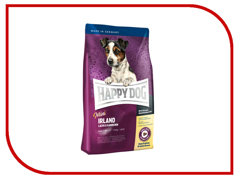 Корм Happy Dog Mini Irland - 0.3kg 60113 для собак корм happy dog vet diet struvit курица ягненок морепродукты 12 5kg для собак