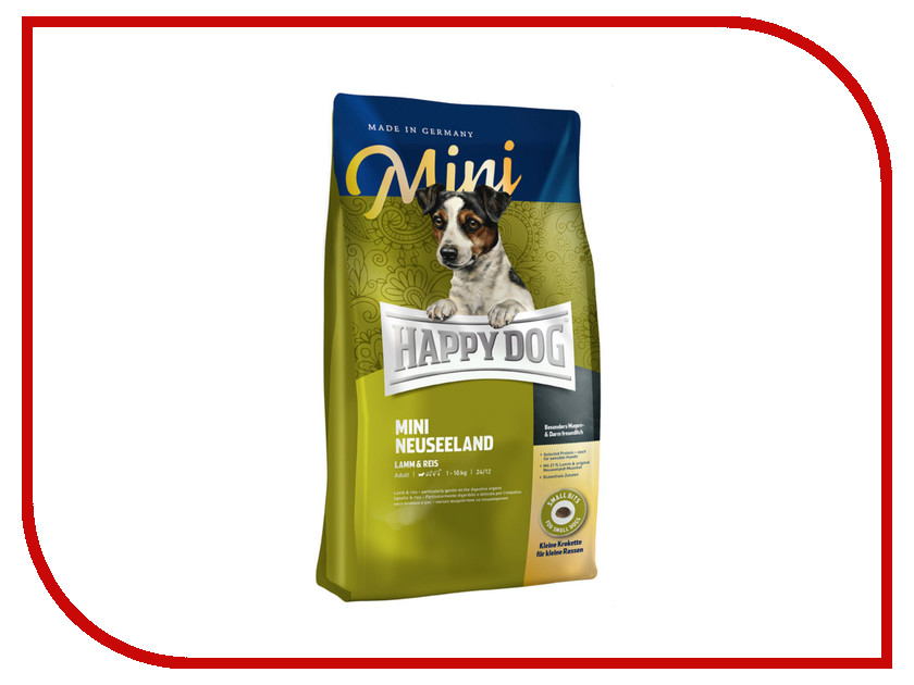 Корм Happy Dog Mini Neuseeland - 0.3kg 60117 для собак happy dog корм для собак купить спб