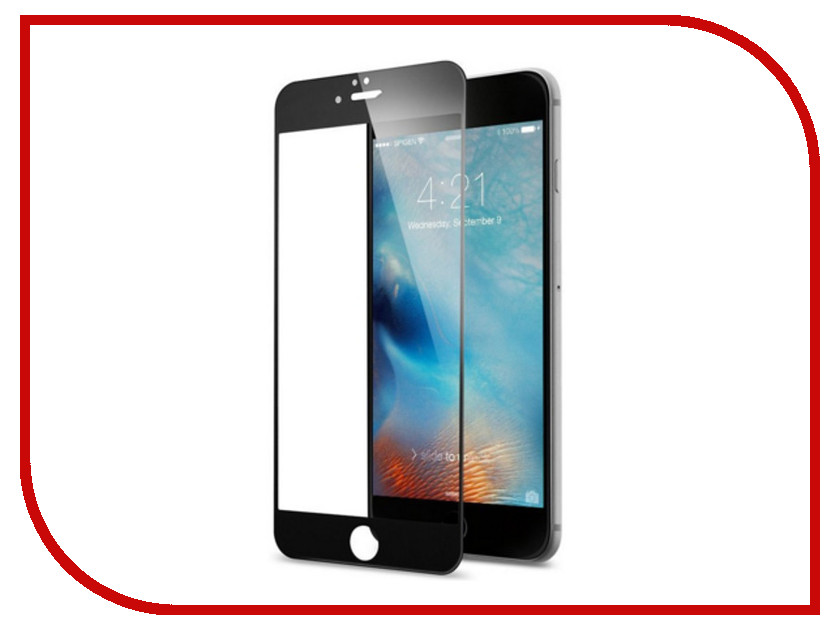 Аксессуар Защитное стекло для APPLE iPhone 6 / 6S Ainy 3D Full Screen Cover 0.33mm с силиконовыми краями Black AF-A890A black grade a lcd display touch digitizer complete screen with frame full assembly replacement for iphone 6 6s iphone 6 6s plu