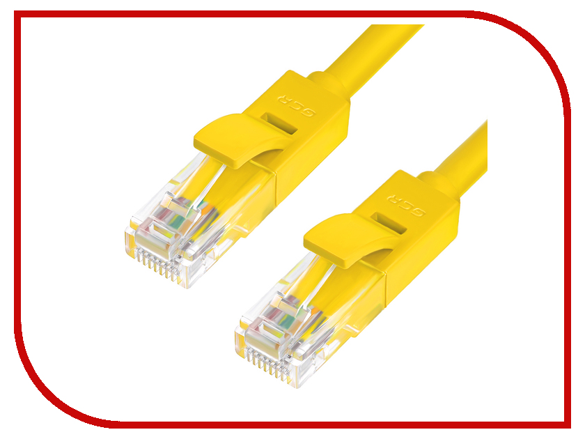 Аксессуар Greenconnect Premium UTP 30AWG cat.6 RJ45 T568B 0.15m Yellow GCR-LNC622-0.15m