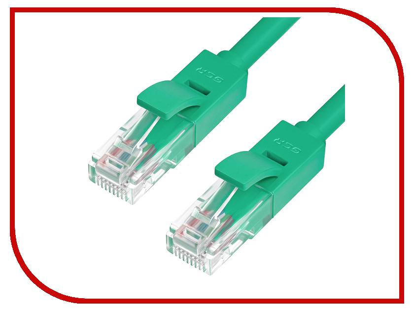 Аксессуар Greenconnect Premium UTP 30AWG cat.6 RJ45 T568B 0.3m Green GCR-LNC625-0.3m