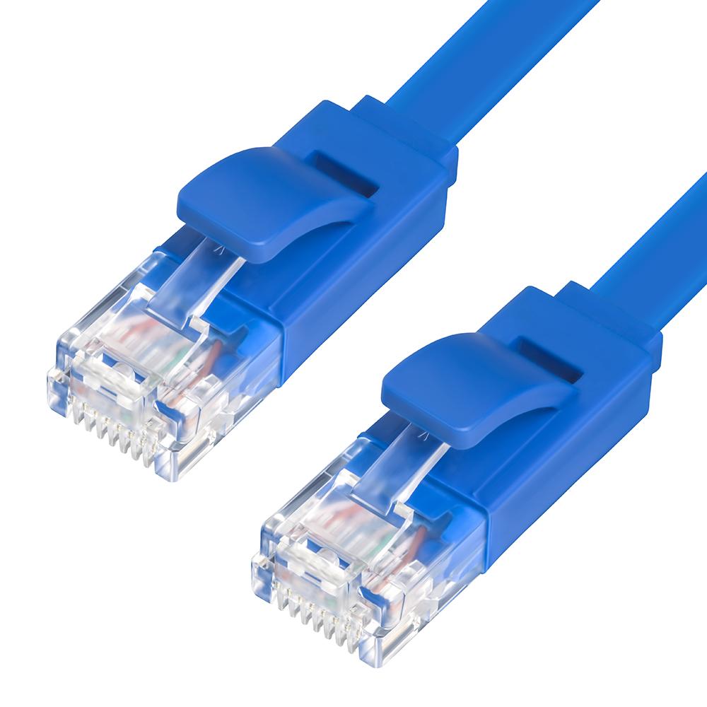Сетевой кабель Greenconnect Premium UTP 32AWG cat.5e RJ45 T568B 2m Blue GCR-LNC111-2.0m