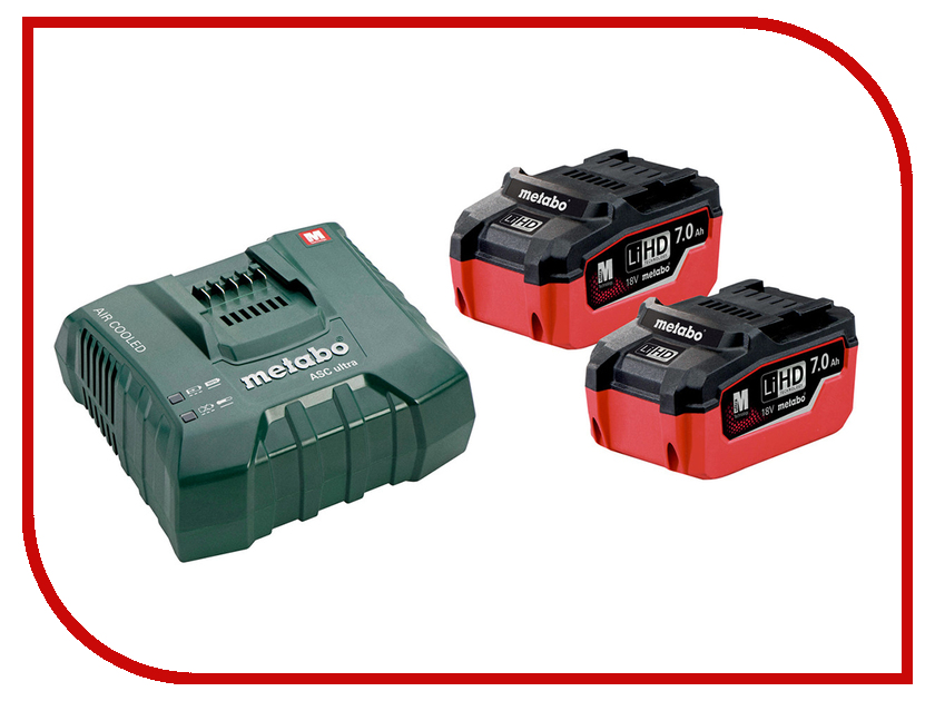 Комплект Metabo Basic-Set 2 x LiHD 7.0 Ah + ASC Ultra 685112000