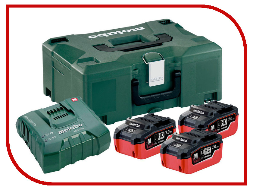 Комплект Metabo Basic-Set 3 x LiHD 7.0 Ah ASC Ultra + Metaloc 685110000