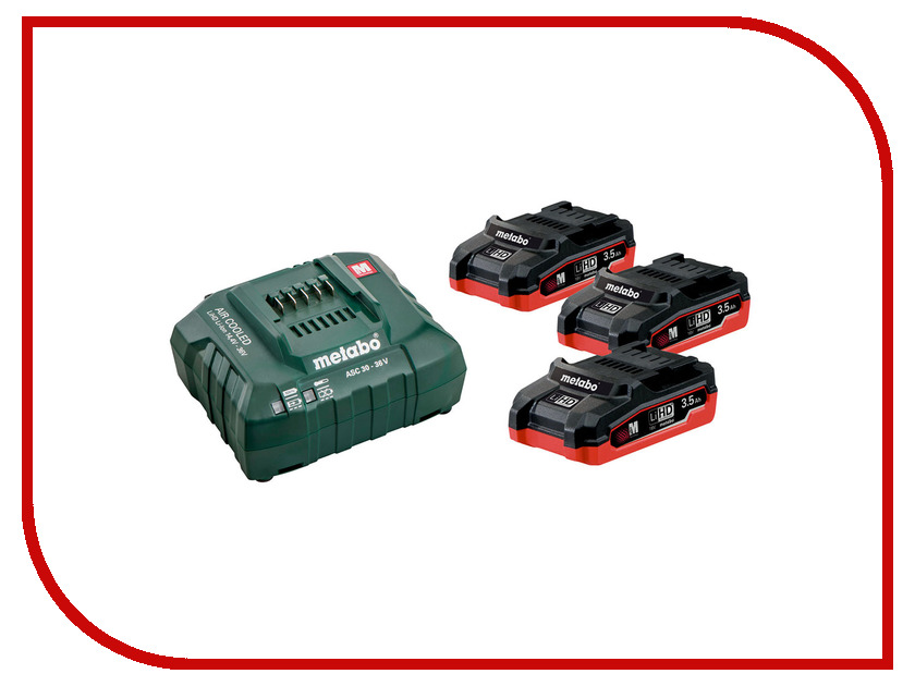 Комплект Metabo Basic-Set 3 x LiHD 3.5 Ah + ASC30 685101000