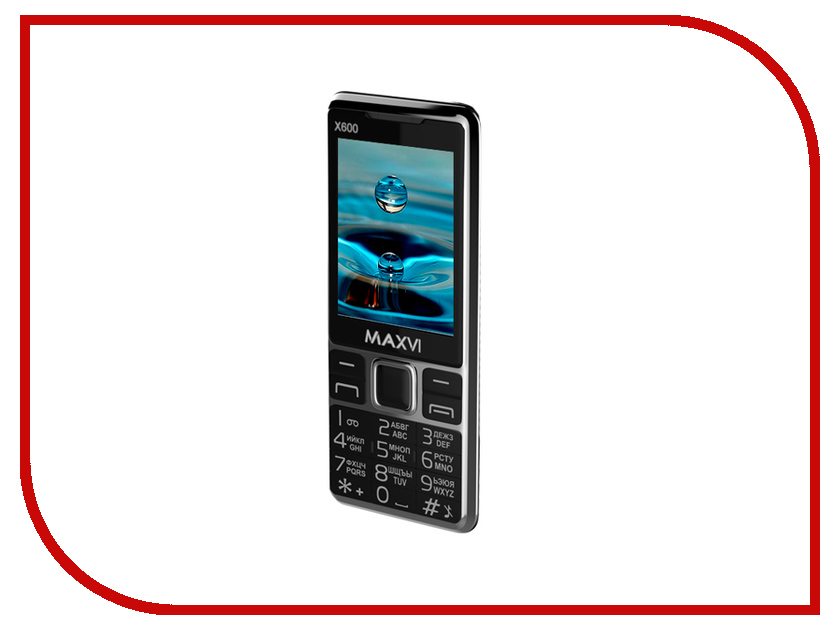 Сотовый телефон Maxvi X650 Black сотовый телефон maxvi k11 brown