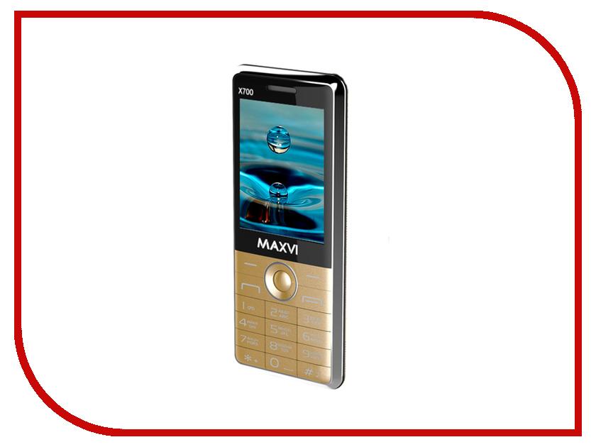 Сотовый телефон Maxvi X700 Gold сотовый телефон maxvi x850 gold