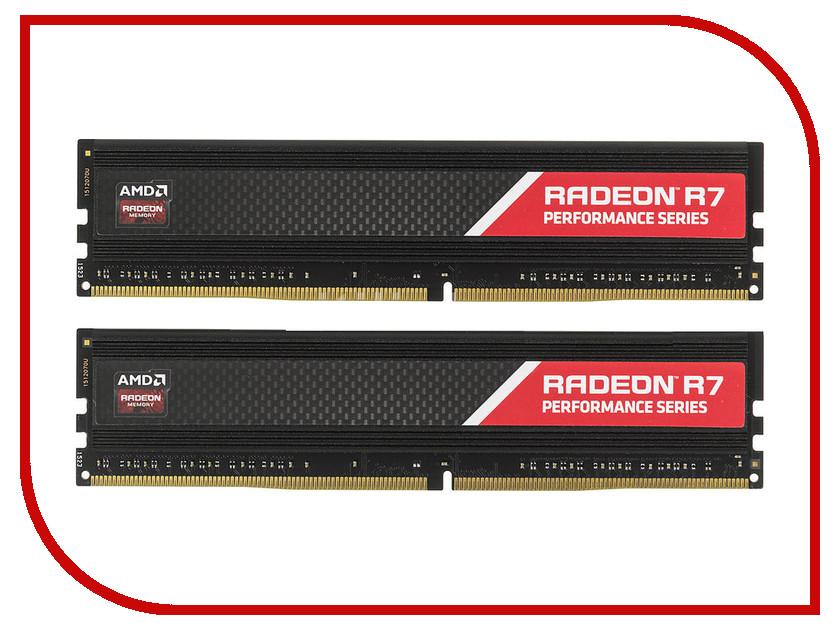 цена на Модуль памяти AMD DDR4 DIMM 2400MHz PC4-19200 CL16 - 16Gb KIT (2x8Gb) R7416G2400U2K