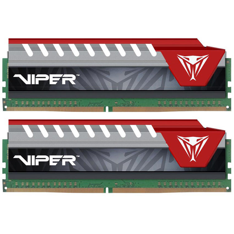 Модуль памяти Patriot Memory Viper Elite DDR4 DIMM 2800MHz PC4-22400 CL16 - 16Gb KIT (2x8Gb) PVE416G280C6KRD Red