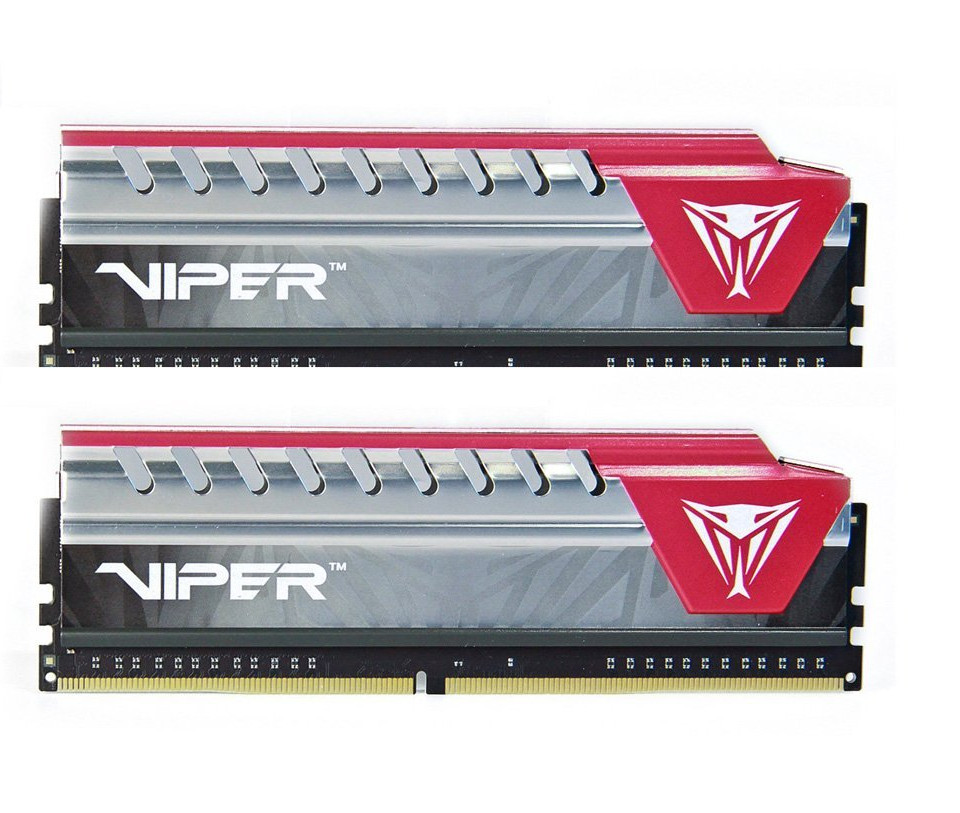 Модуль памяти Patriot Memory Viper Elite DDR4 DIMM 2400MHz PC4-19200 CL16 - 8Gb KIT (2x4Gb) PVE48G240C5KRD Red patriot memory viper v360 black red pp000200