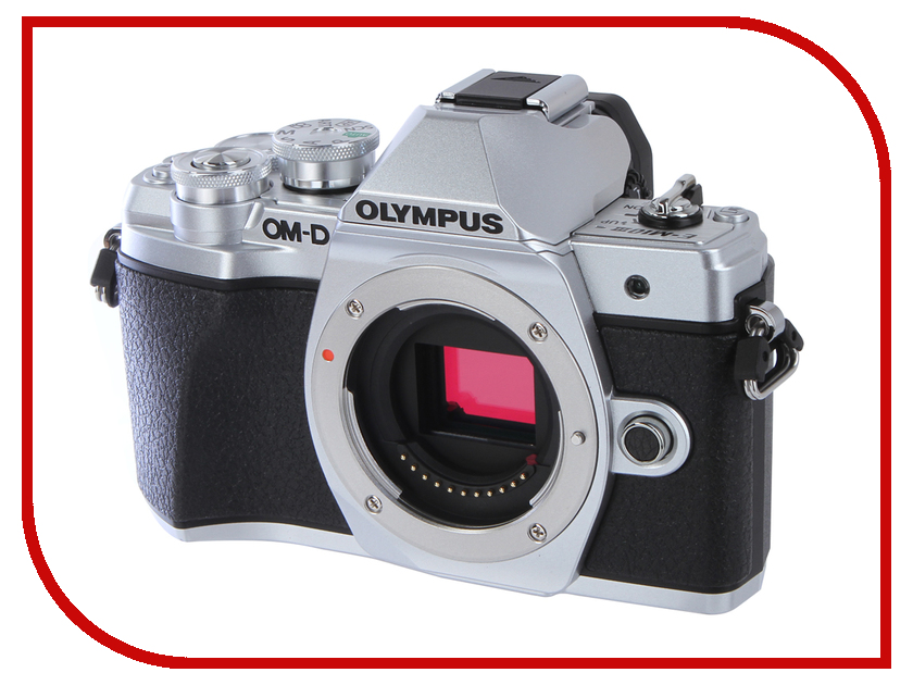 Фотоаппарат Olympus OM-D E-M10 Mark III Body Silver цифровой фотоаппарат со сменной оптикой olympus om d e m10 mark ii kit double zoom black
